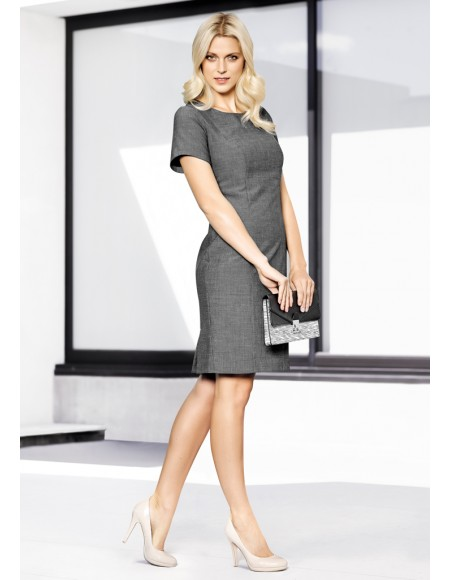 Ladies Short Sleeve Shift Dress in ROCOCO Suiting