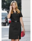 Ladies Open Neck Dress in ROCOCO Knit Soft Suiting