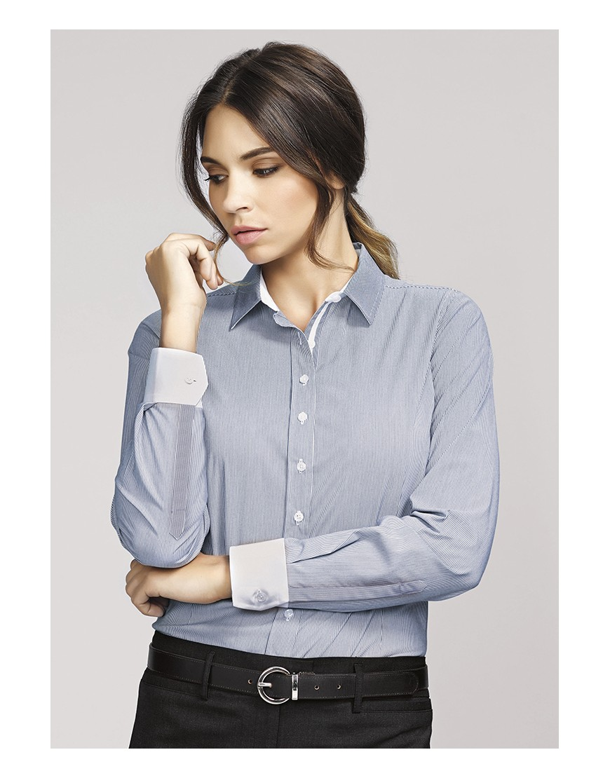 Fifth avenue ladies long sleeve business shirt for Long sleeve business shirts
