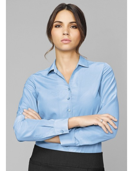 Solanda Ladies Plain Long Sleeve Shirt CLEARANCE
