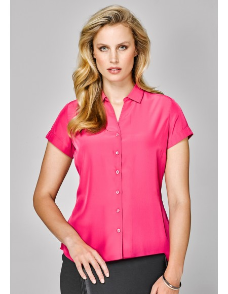 Solanda Ladies Plain Short Sleeve Shirt - CLEARANCE