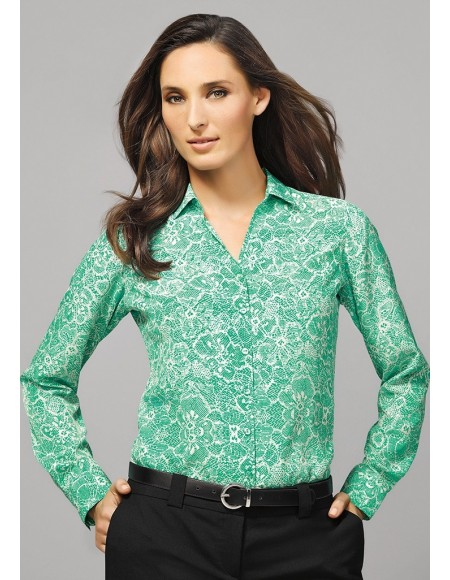 Solanda Ladies Print Long Sleeve Shirt - CLEARANCE