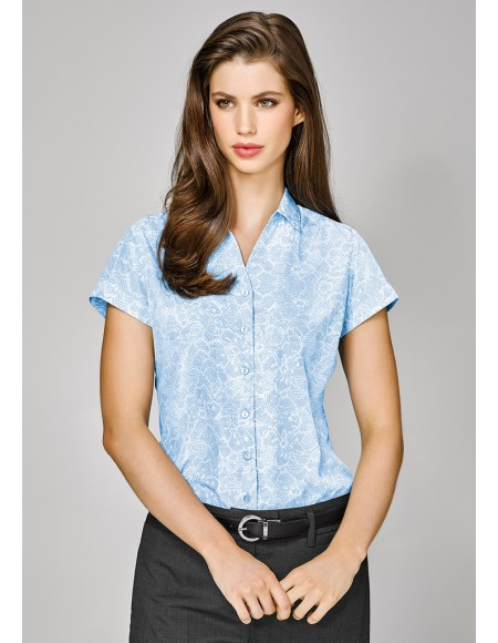 Solanda Ladies Print Short Sleeve Shirt - CLEARANCE
