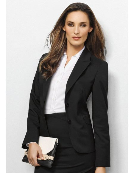 Ladies Short-Mid Length Jacket in Plain Suiting