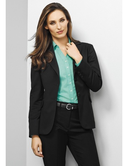 Ladies Longline Jacket in Plain Suiting
