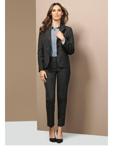Ladies Short-Mid Length Jacket in Wool Suiting