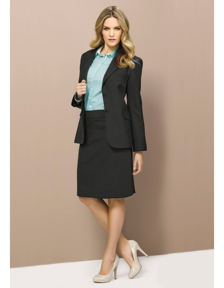 Ladies Longline Jacket in Wool Suiting
