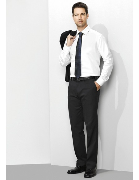 Mens One Pleat Pant Stout in Cool Stretch Plain