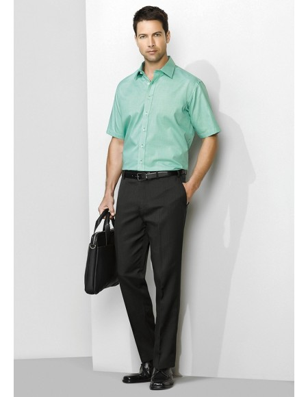 Mens Slimline Pant Regular in Cool Stretch Plain