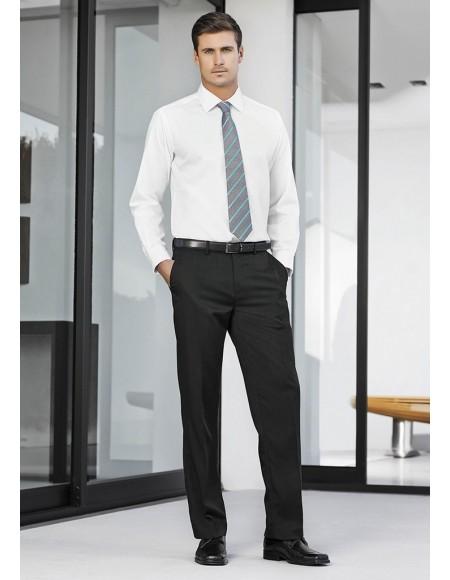 Mens Adjustable Waist Pant Regular in Cool Stretch Plain