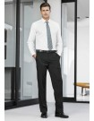 Mens Adjustable Waist Pant Stout in Cool Stretch Plain