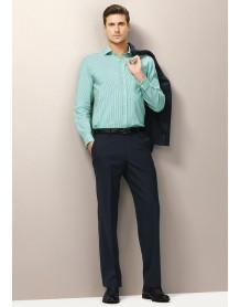 Mens Flat Front Pant in Comfort Wool Suiting