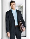 Mens 2 Button Jacket in Cool Stretch Plain Suiting
