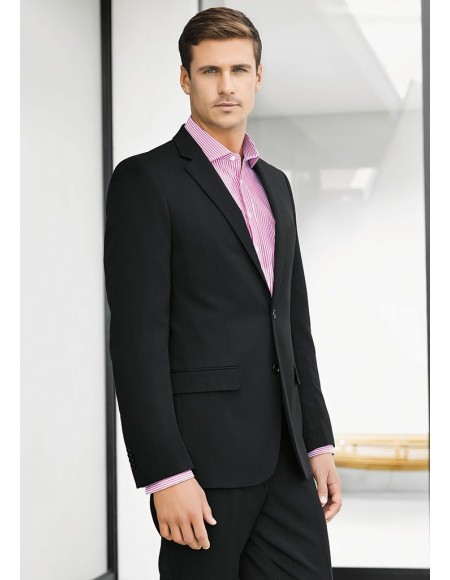 Mens Slimline Jacket in Plain Suiting