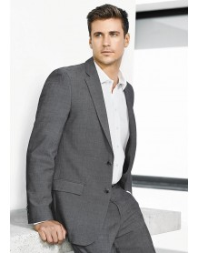 Mens Slimline 2 Button Jacket in ROCOCO Texture Yarn Suiting