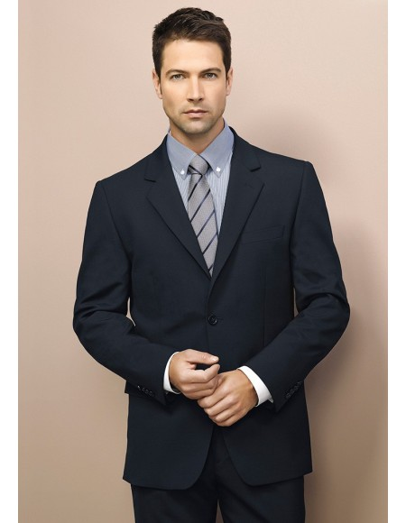 Mens 2 Button Jacket in Comfort Wool Stretch