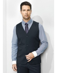 Mens Longline Vest in Plain Suiting CLEARANCE