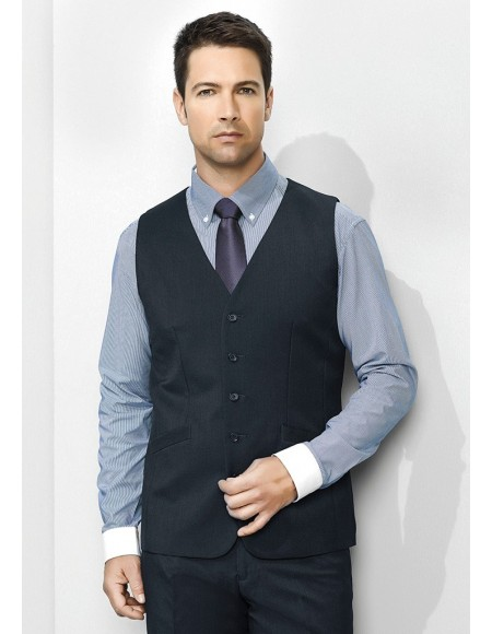 Mens Longline Vest in Plain Suiting