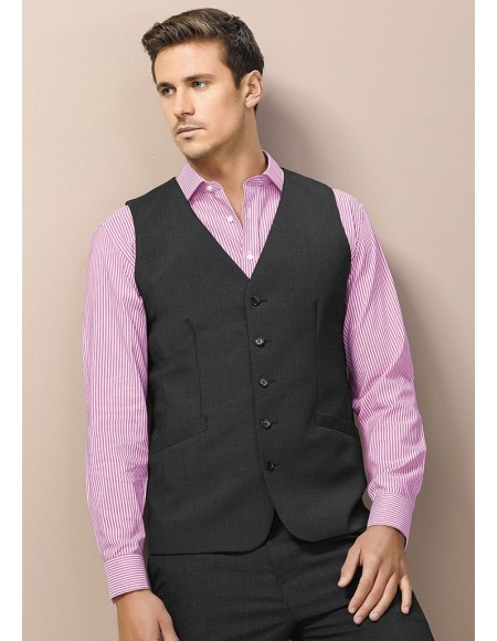 Mens Longline Vest in Wool Suiting