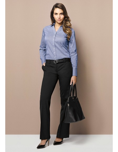Ladies Hipster Fit Pant - Wool Suiting