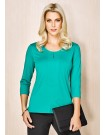 Advatex Cool Abby 3/4 sleeve Knit Top dynasty green