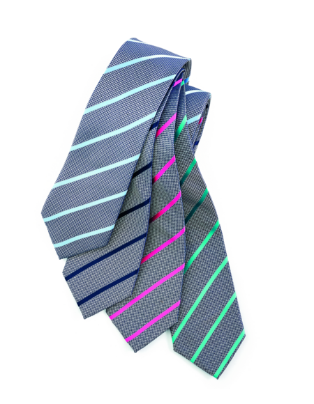 Single Contrast Stripe Tie