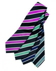 Wide Contrast Stripe Tie