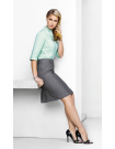 Ladies Feature Pleat Skirt - Textured Yarn Suiting