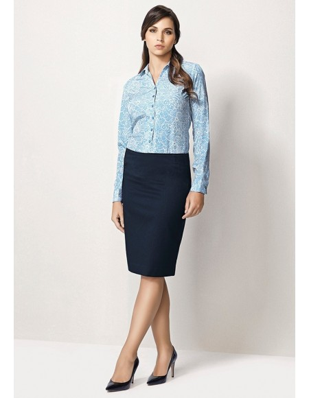Ladies Bandless Lined Skirt - Plain Suiting