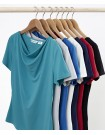 Ava Ladies Drape Knit Top all colours