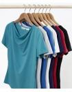 Ava Ladies Drape Knit Top all colours
