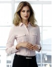 Madison Ladies Long Sleeve Blouse blush pink