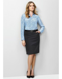 Ladies Multi Pleat Skirt - Plain Suiting