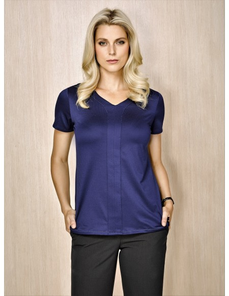 Advatex Mae Ladies Short Sleeve Knit Top patriot blue