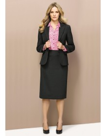 Ladies Relaxed Fit Lined Skirt - Wool Suiting