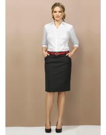 Ladies Multi Pleat Skirt - Wool Suiting