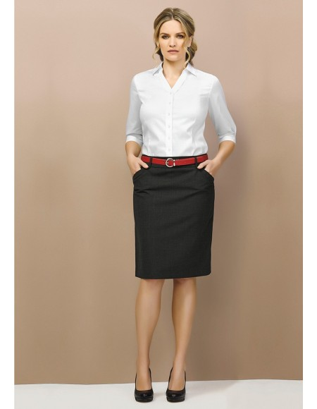 Ladies Multi Pleat Skirt - Wool Suiting