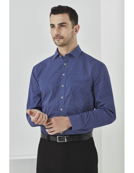 Oscar Mens Long Sleeve Shirt marine