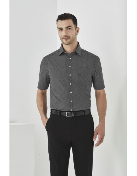 Oscar Mens Short Sleeve Shirt black