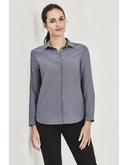 Charlie Womens Long Sleeve Shirt navy chambray