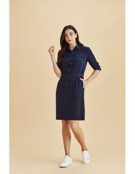 Chloe Georgette Shirt Dress